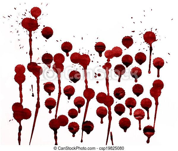 splashes of blood - csp19825080