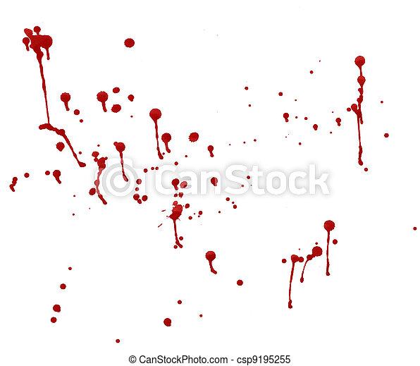 splashes of blood - csp9195255