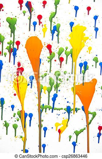 Splashes of color - csp26863446