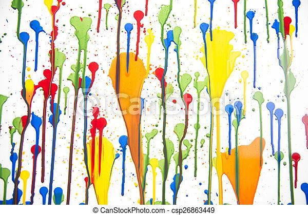 Splashes of color - csp26863449