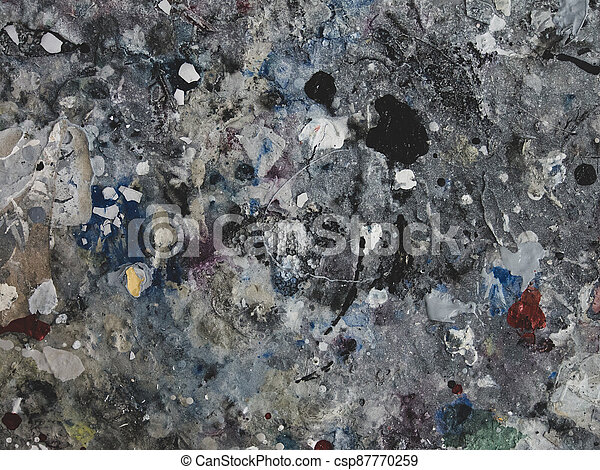 splashes of colorful paint. background - csp87770259