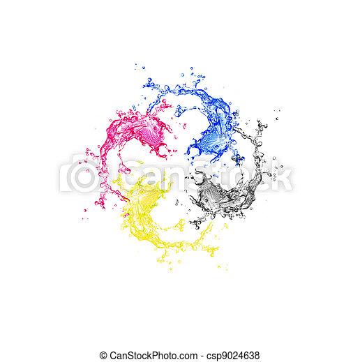 Splashes of four color - csp9024638