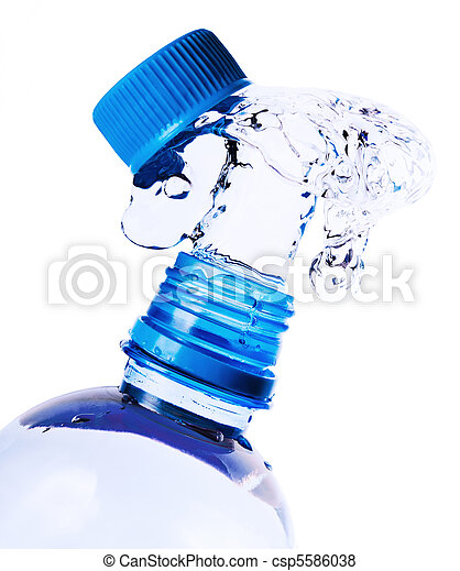 Splashes of water from a bottle - csp5586038
