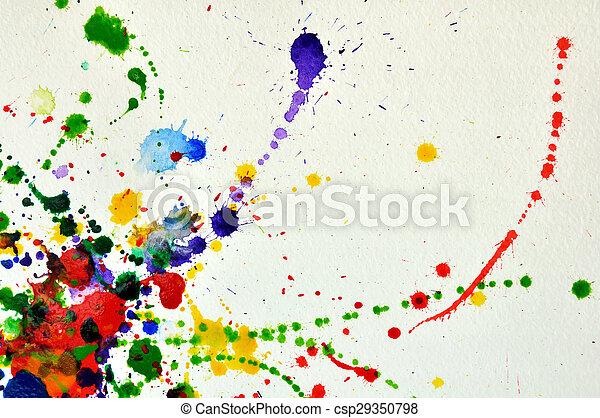Splashes of watercolor - csp29350798