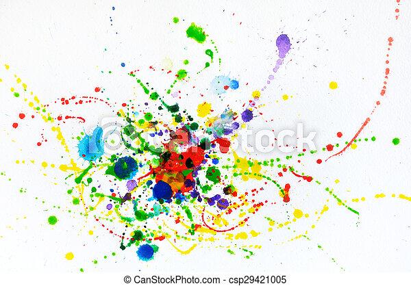 Splashes of watercolor - csp29421005