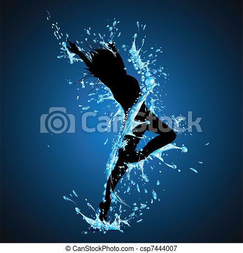 Splashing Dancing Lady - csp7444007