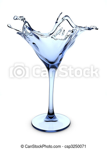 Splashing martini cocktail glass - csp3250071