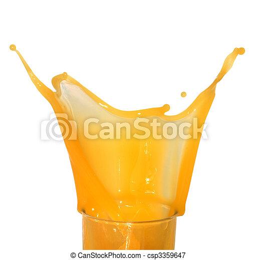 Splashing Orange Juice - csp3359647