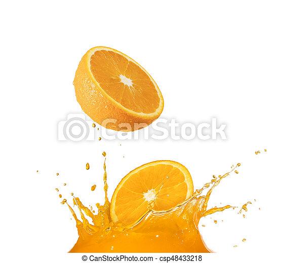splashing orange juice - csp48433218