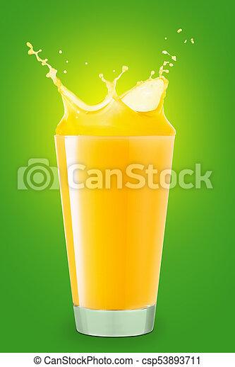 splashing orange juice - csp53893711