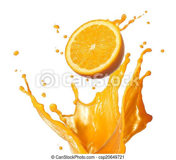 splashing orange juice - csp20649721