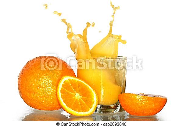 Splashing Orange Juice - csp2093640