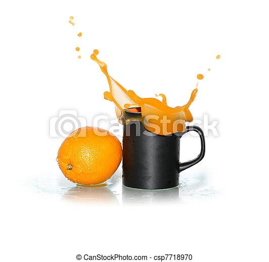 Splashing Orange Juice - csp7718970