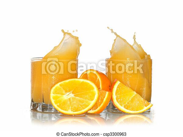 Splashing Orange Juice - csp3300963