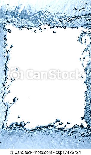 Splashing Water Frame - csp17426724