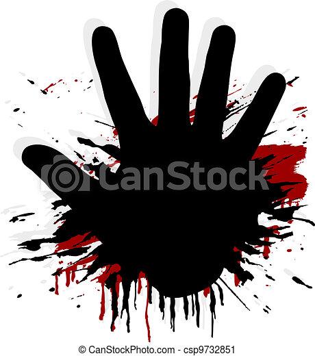 splat, blod, hand - csp9732851