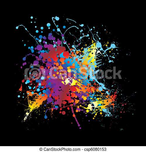 Splat ink rainbow - csp6080153