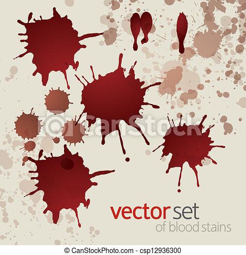 Splattered blood stains, set 3 - csp12936300