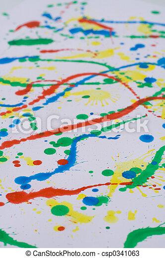 splattered, smeered, bedrukt - csp0341063