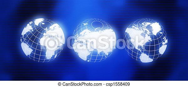 společnost, nadšený, mapa - csp1558409