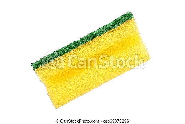 Sponge on white background - csp63073236