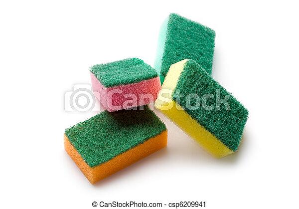 Sponges isolated on white - csp6209941