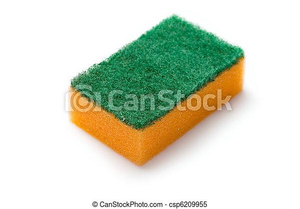 Sponges isolated on white - csp6209955