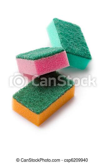 Sponges isolated on white - csp6209940