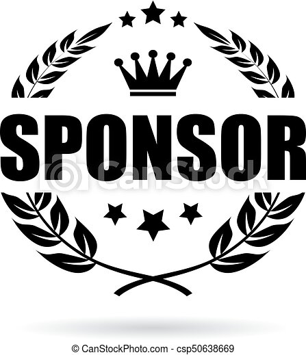 sponsor laurel business icon sponsor laurel business vector icon