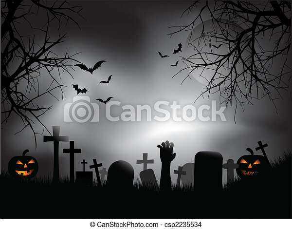 Spooky graveyard - csp2235534