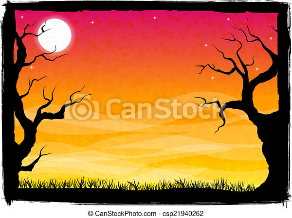 spooky halloween background - csp21940262