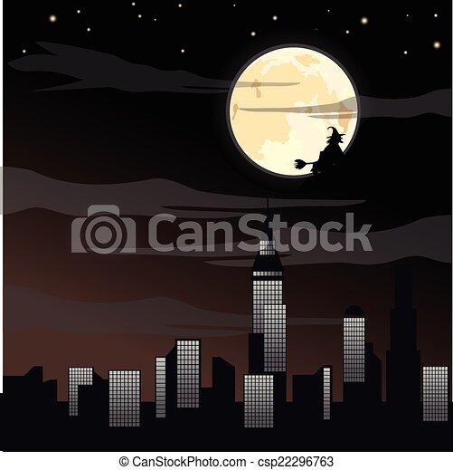 Spooky Halloween background - csp22296763