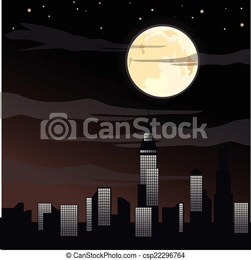 Spooky Halloween background - csp22296764