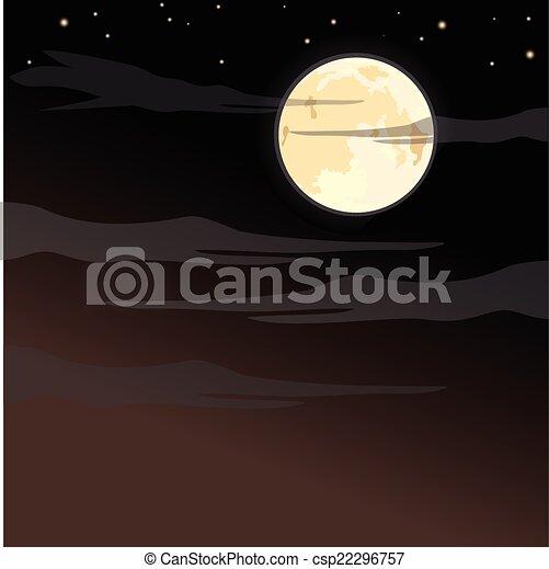 Spooky Halloween background - csp22296757