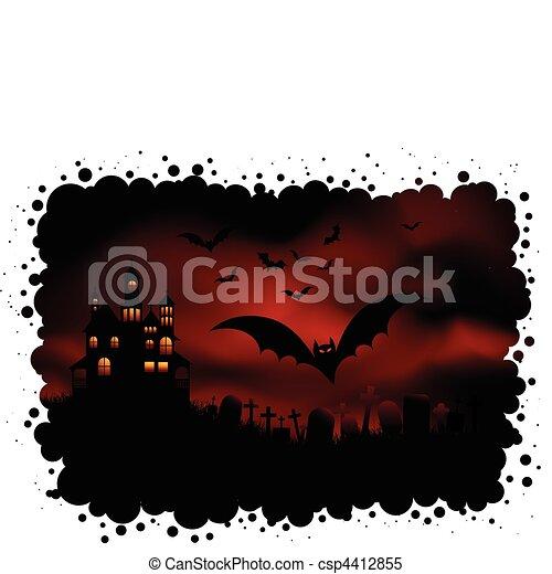 Spooky halloween background  - csp4412855