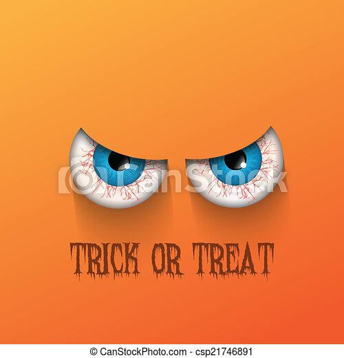 Spooky Halloween background - csp21746891