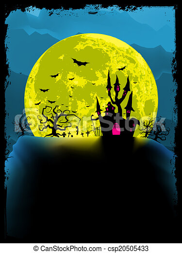 Spooky halloween background. EPS 8 - csp20505433