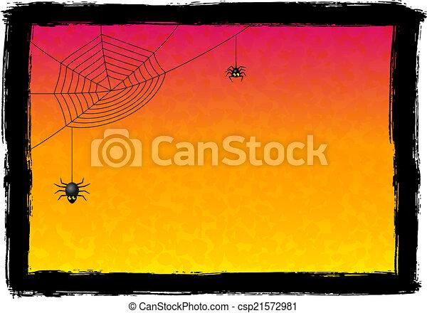 spooky halloween background - csp21572981