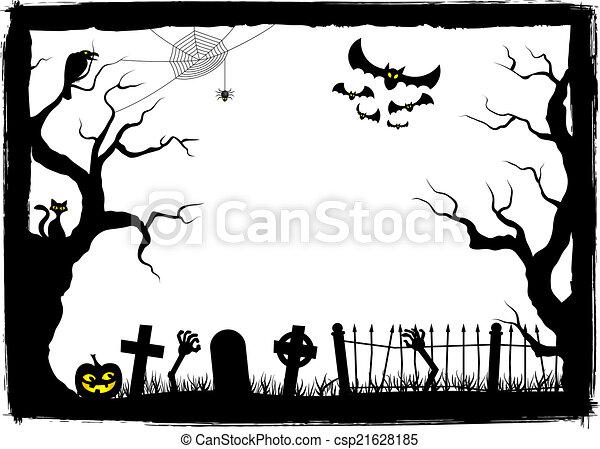spooky halloween background - csp21628185