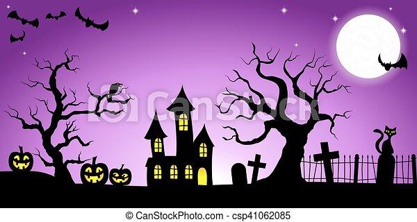 spooky halloween background - csp41062085