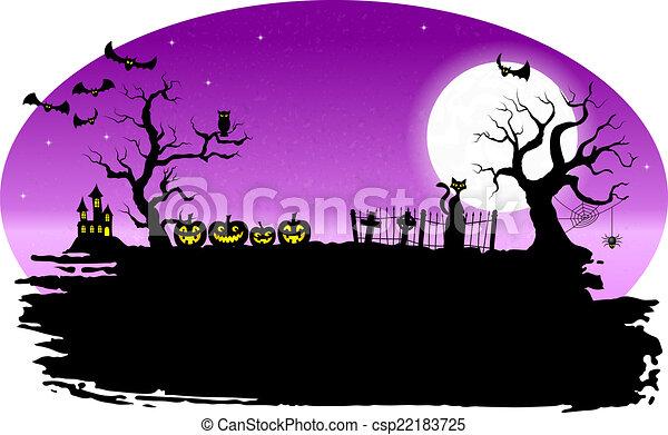 spooky halloween background - csp22183725