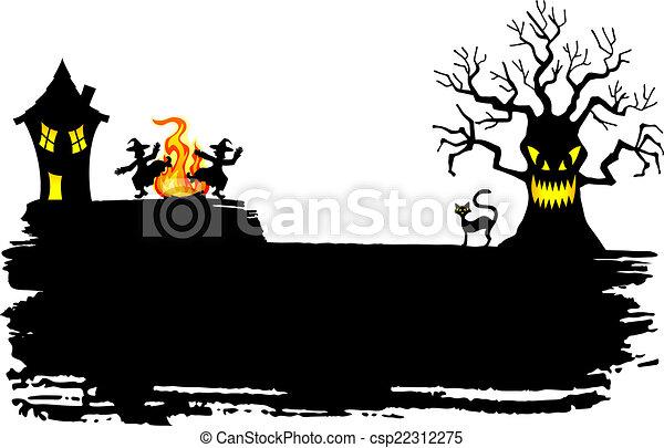 spooky halloween background - csp22312275