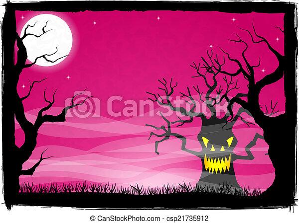 spooky halloween background - csp21735912