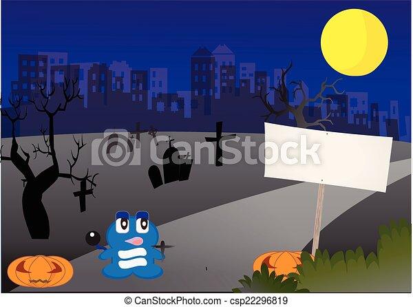 Spooky Halloween background - csp22296819