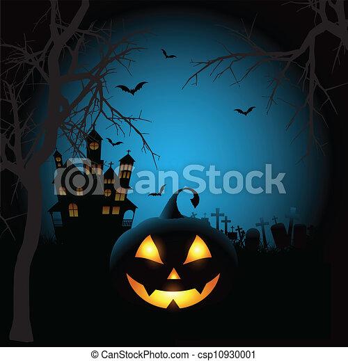 Spooky halloween background  - csp10930001