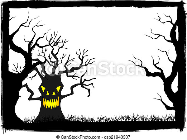 spooky halloween background - csp21940307