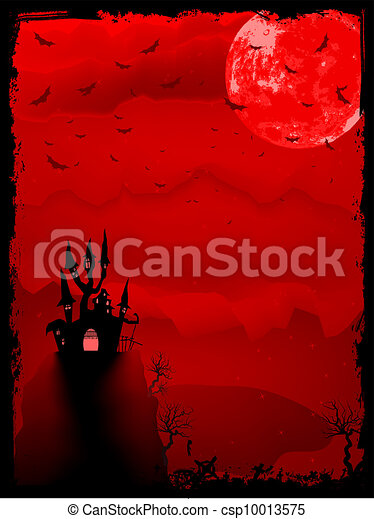 Spooky Halloween composition horror. EPS 8 - csp10013575