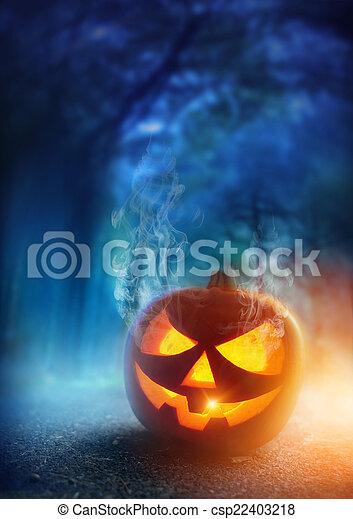 Spooky Halloween Night - csp22403218