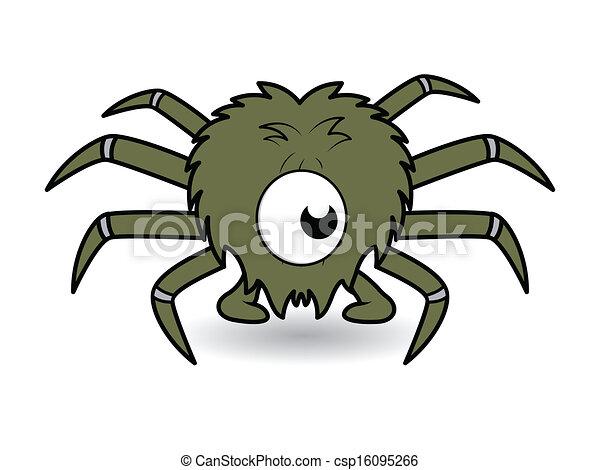 Spooky Halloween Spider Face - csp16095266