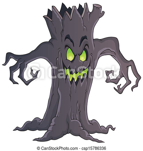 spooky tree theme image 1 eps10 vector illustration rh canstockphoto com free spooky tree clipart free spooky tree clipart